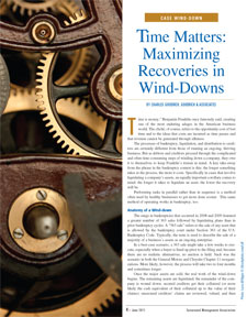 Time Matters: Maximizing Recoveries in Wind-Downs